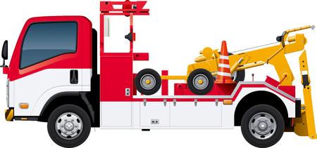 Tow truck Ilustracja