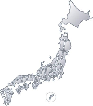 日本地図金属