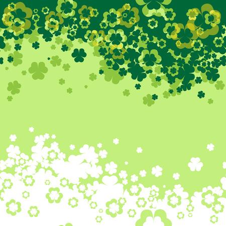 Green Shamrock leaf vector background