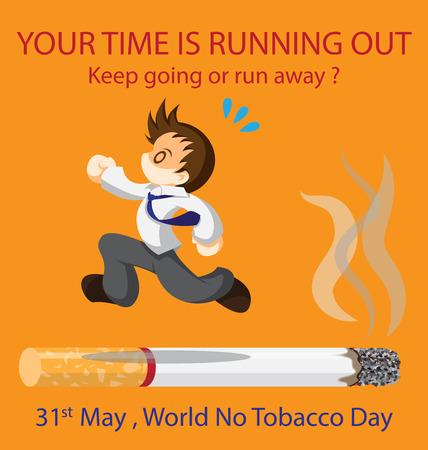 Man running on cigarette