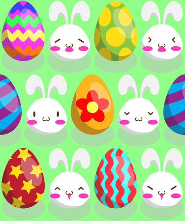 Pattern of Easter bunny and Easter Egg