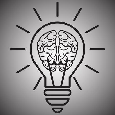 The brain in the light blub