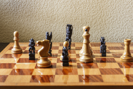 Various cultural traditions expressed in chess pieces.