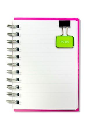 Notebook  isolated Standard-Bild