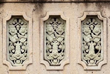 Thai art stucco,decor in Thailand temple  photo