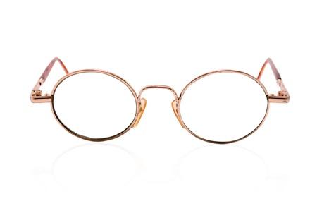 eyewear fashion: sunglasses stands on white background
