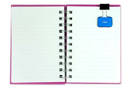 blank page of note book on white isolate,good used for web or background photo