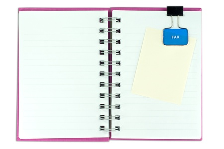blank page of note book and note pad on white isolate,  photo