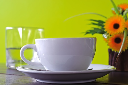 Close-up of a delicious cup of coffee or hot chocolate Stock Photo - 8369469