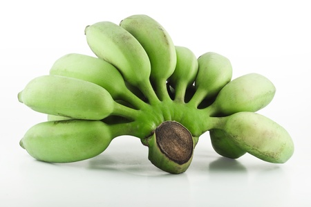 Cultivated banana on white background (include clipping path) photo