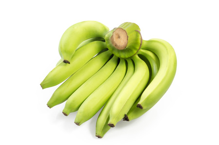 Bunch of bananas isolated on white background   Clipping path included photo