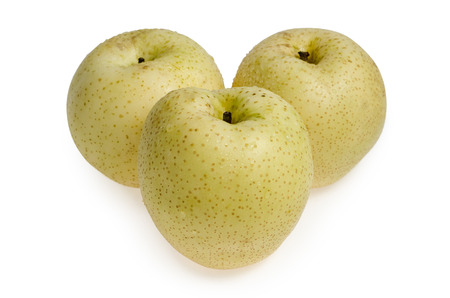asian pear: A stock photo of a  group juicy Asian Pear ready for your design  The file includes a clipping path so it is easy to work with