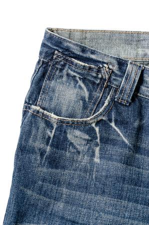 デニム ポケット クローズ アップ: クリッピング パスが含まれています。 写真素材
