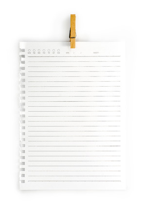 High resolution isolated  notepad  photo