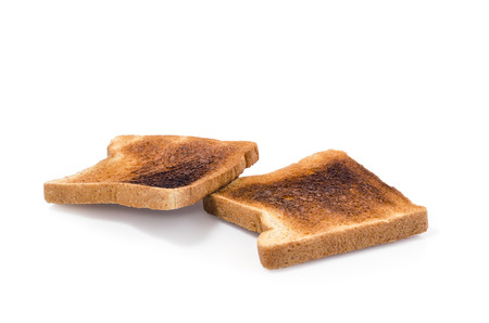 burnt toast: two pieces of Burnt Toast