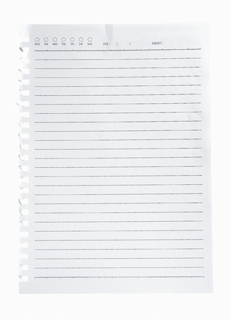 High resolution isolated  notepad with clipping path photo