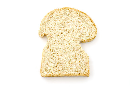 included: Sliced homemade brown bread studio isolated  Clipping path included Stock Photo