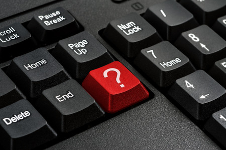 Keyboard - Red key Question mark  , business Concepts And Ideas photo