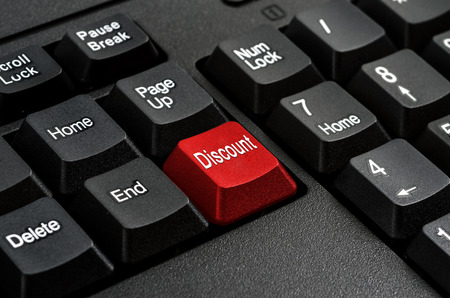 Keyboard - Red key Discount , business Concepts And Ideas photo