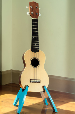 acoustic ukulele: ukulele and stand in my bedroom