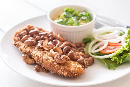mango fish: Thai Style Steak Fish with Green Mango Salad