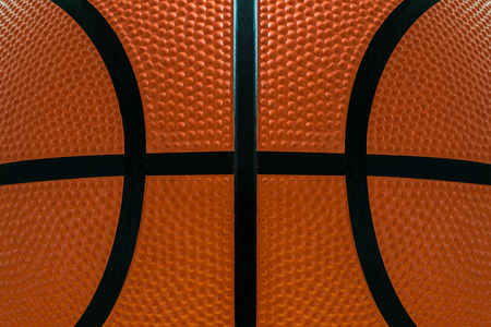 Basketball ball detail leather surface texture background photo