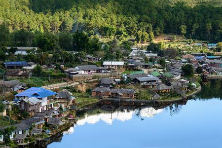 Verbod Rak Thai Village, een Chinese nederzetting in Pai, Mae Hong Son, Thailand.