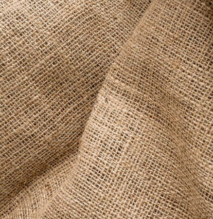 bagging: Closeup of brown textured surface,burlap texture background Stock Photo