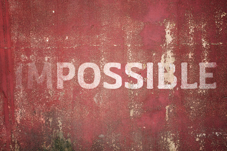 impossible text on Metal plate steel background. Hi res texture photo