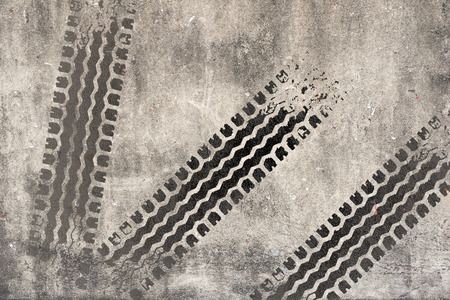 Abstract road background with tyre track photo