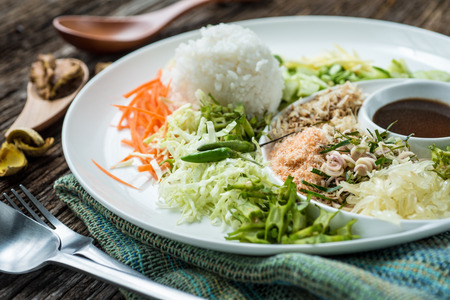 southern thailand: Thai Cuisine Khao Yum, rice salad ,Studio Shot