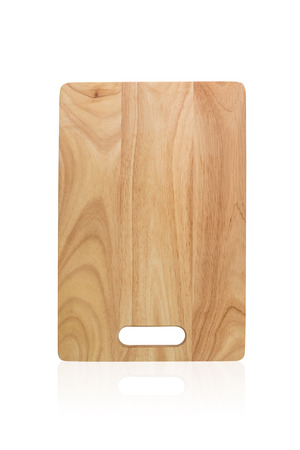 Wooden Cutting Board Isolated On White Background,The file includes a clipping path so it is easy to work