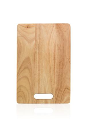 Houten snijplank op een witte achtergrond, Het bestand bevat een clipping pad dus het is gemakkelijk om te werken