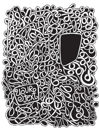disorderly: Hipster Hand drawn Vector pattern. Abstract background with linear doodles. Repeating textureVector illustration.