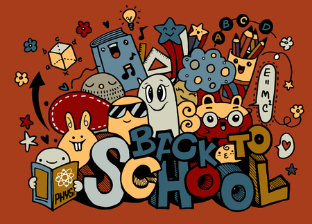 Vector illustration of  Back to School ,Monster Doodle for your design Illustration