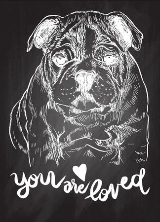 벡터 일러스트 레이 션의 손으로 그려진 된 귀여운 강아지, 스케치의 강아지에 의해 그려진 스톡 콘텐츠 - 77416461