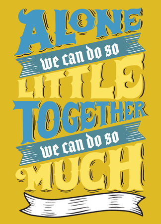 harmonize: unite.Inspirational quote. Hand drawn vintage illustration with hand-lettering and decoration elements.