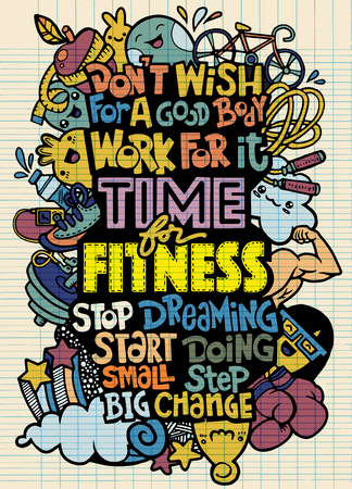 brain food: Healthy lifestyle concept. Vector hand drawn doodle background