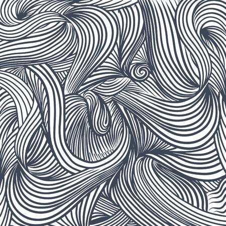 Decoratieve abstract dacht, vector textuur met lijnen en doodles