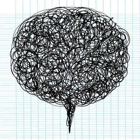 Decoratieve abstracte figuur, vector textuur met lijnen en doodles in spreken bubble