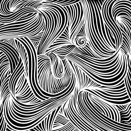 Decoratieve abstracte figuren, vector textuur met lijnen en doodles
