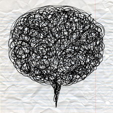 Abstract decorativo astratto, struttura vettoriale con linee e doodles in bolla di parlare Archivio Fotografico - 81721873