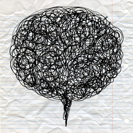 Decorative abstract figured ,vector texture with lines and doodles in speak bubble