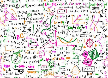Fondo de círculo de educación matemática lineal de matemáticas con diagramas geométricos, vector de doodle de fondo transparente.