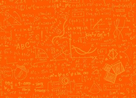 수학 선형 수학 교육 원형 배경 기하학적 줄거리, 완벽 한 배경 낙서 벡터입니다.