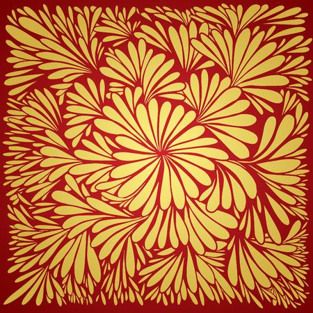 高級壁紙。ヴィンテージ花柄のベクトルの背景。