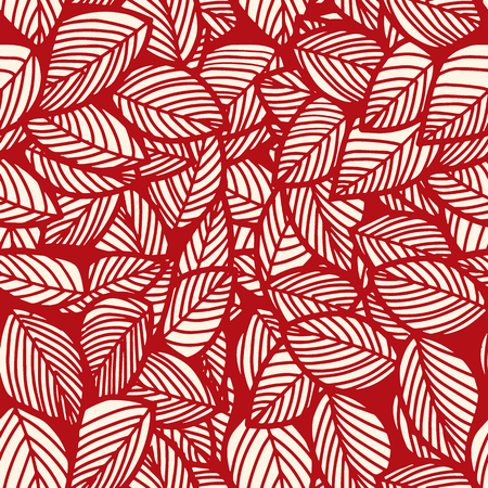 Leaf seamless vector floral pattern background.Vector  illustration Ilustração