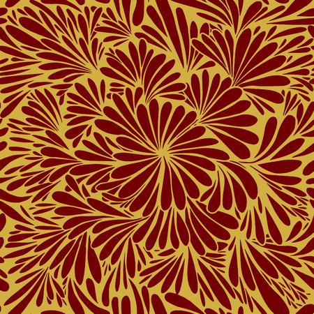 Luxury wallpaper. Vintage Floral pattern Vector background.Seamless pattern Illustration