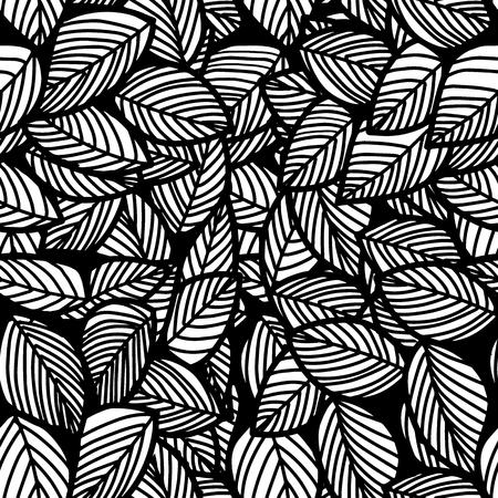 Folha sem emenda vetor floral padrão background.Vector ilustração