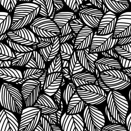 Leaf seamless vector floral pattern background.Vector  illustration 矢量图像